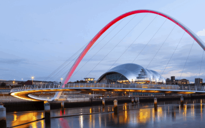 Millennium Bridge Lit for Remembrance