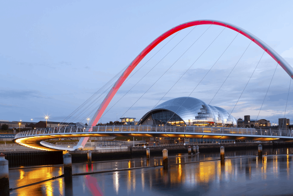Millennium Bridge Lit for Remembrance